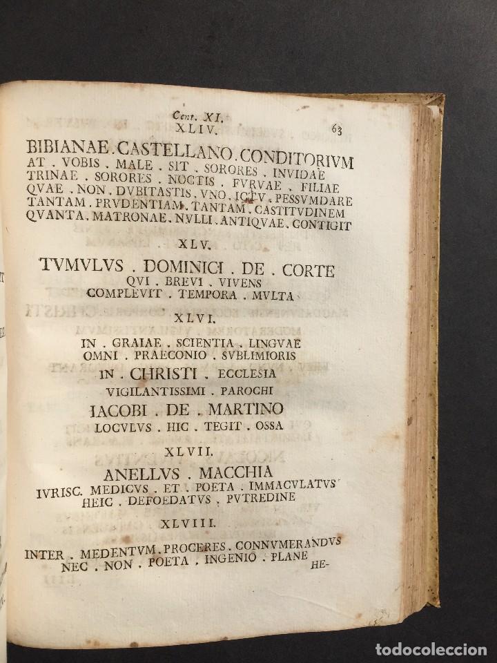 Libros antiguos: 1781 - Sepulcretum Amicabile - Rarisimo libro que contiene 1900 epitafios - Cementerio - Foto 6 - 117013087