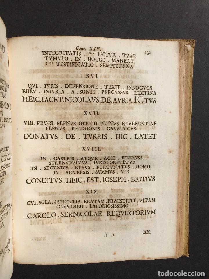 Libros antiguos: 1781 - Sepulcretum Amicabile - Rarisimo libro que contiene 1900 epitafios - Cementerio - Foto 8 - 117013087