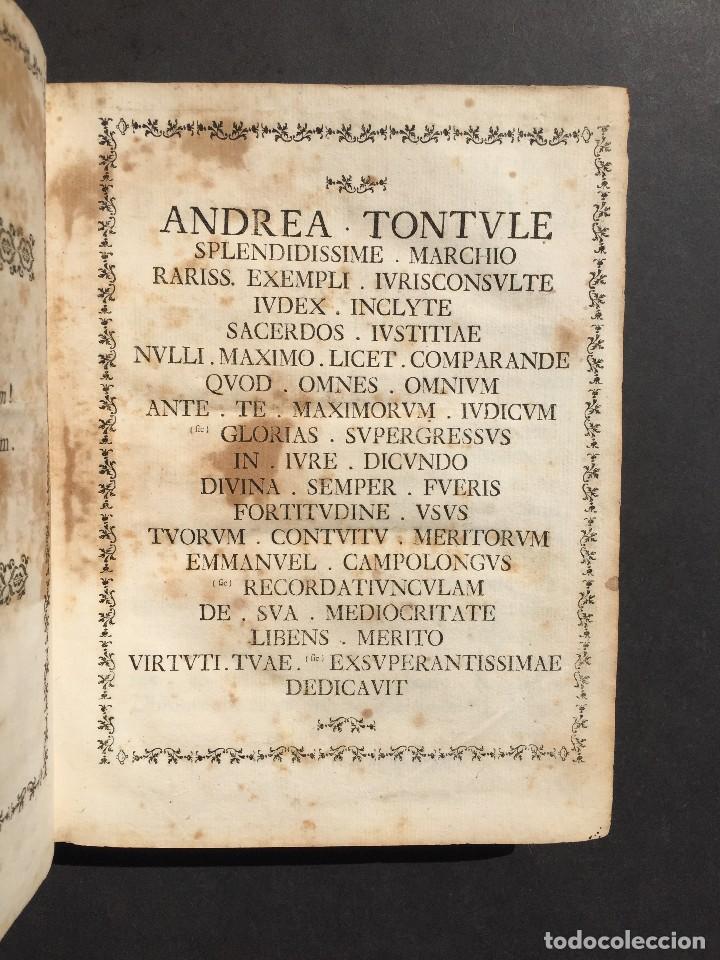 Libros antiguos: 1781 - Sepulcretum Amicabile - Rarisimo libro que contiene 1900 epitafios - Cementerio - Foto 12 - 117013087