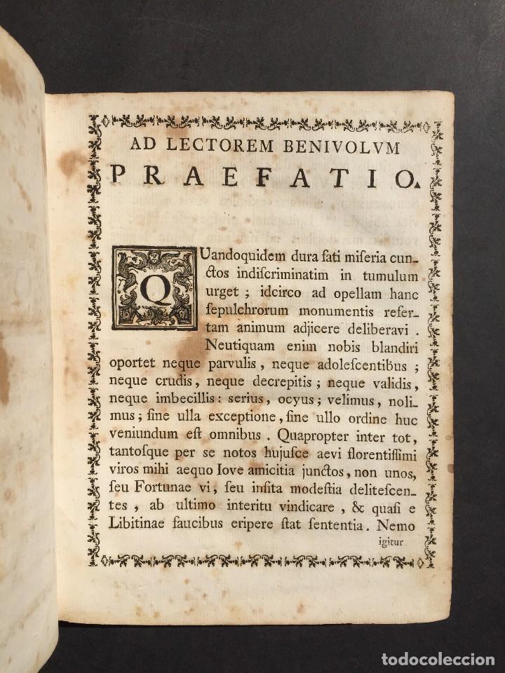 Libros antiguos: 1781 - Sepulcretum Amicabile - Rarisimo libro que contiene 1900 epitafios - Cementerio - Foto 14 - 117013087