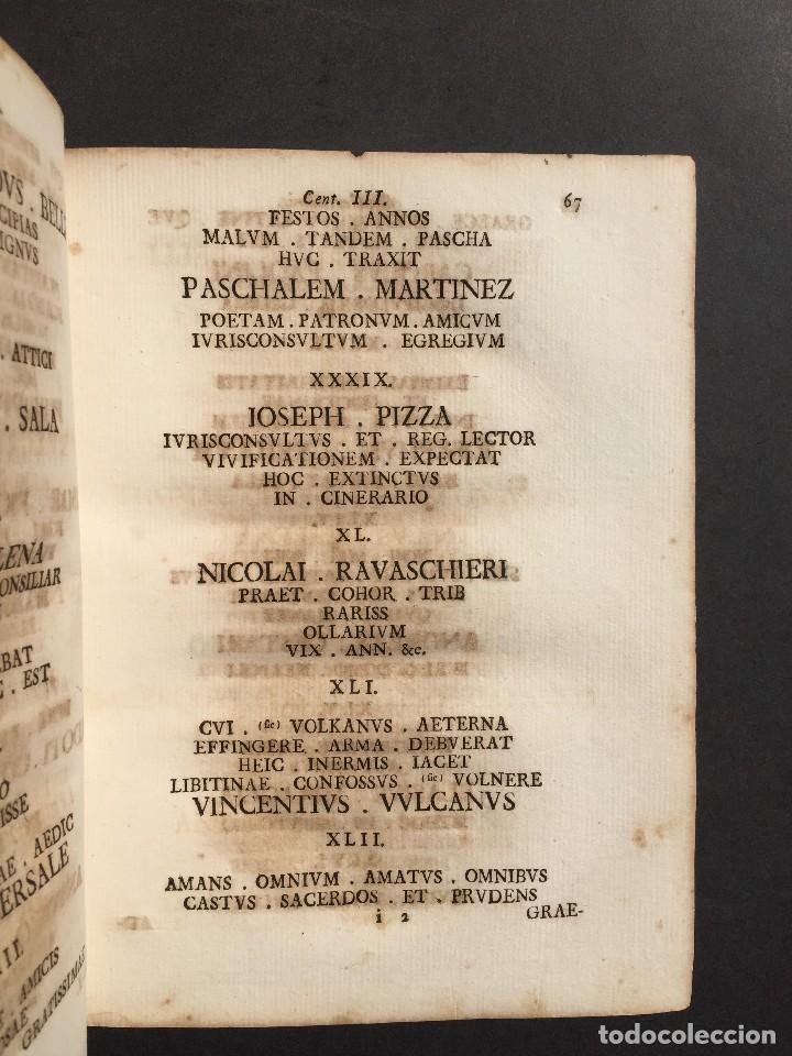 Libros antiguos: 1781 - Sepulcretum Amicabile - Rarisimo libro que contiene 1900 epitafios - Cementerio - Foto 17 - 117013087