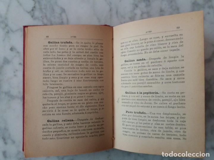 Libros antiguos: FORMULARIO PRÁCTICO DE COCINA EDICION 1910 - Foto 5 - 117037147