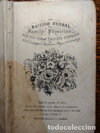 Libros antiguos: CULPEPER: COMPLETE HERBAL WITH NEARLY FOUR HUNDRED MEDICINES, MADE FROM ENGLISH HERBS. - Foto 2 - 25930341