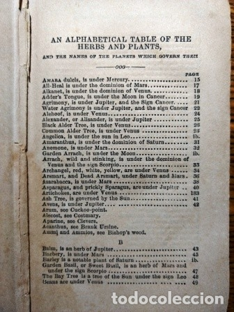 Libros antiguos: CULPEPER: COMPLETE HERBAL WITH NEARLY FOUR HUNDRED MEDICINES, MADE FROM ENGLISH HERBS. - Foto 4 - 25930341