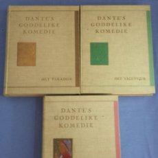 Libros antiguos: DANTE'S GODDELIKE KOMEDIE, 3 LIBROS, EDICIÓN LIMITADA NR. 893/1025, EN HOLANDES. Lote 117239119