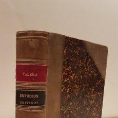 Libros antiguos: VALERA (JUAN) - VALERA (JUAN). NUEVOS ESTUDIOS CRÍTICOS POR.... Lote 117198374