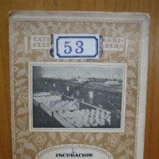 Libros antiguos: CATECISMO DEL AGRICULTOR Y GANADERO. CALPE. INCUBACIÓN NATURAL Y ARTIFICIAL DE LAS GALLINAS. Lote 117423519