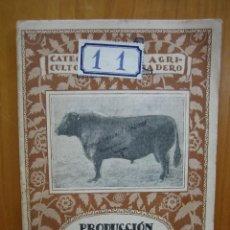 Libros antiguos: CATECISMO DEL AGRICULTOR Y GANADERO. CALPE. PRODUCCIÓN DE CARNE DE CEBO. Lote 117423555