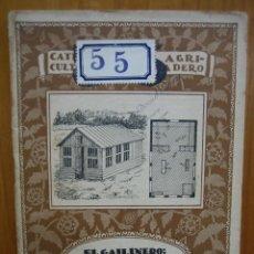 Libros antiguos: CATECISMO DEL AGRICULTOR Y GANADERO. CALPE. EL GALLINERO: MODELOS Y CONSTRUCCIÓN. Lote 117424635