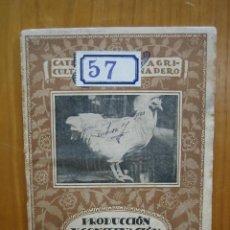 Libros antiguos: CATECISMO DEL AGRICULTOR Y GANADERO. CALPE. PRODUCCIÓN Y CONSERVACIÓN DE HUEVOS. Lote 117425123