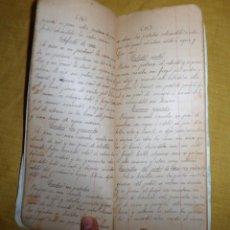 Libros antiguos: ANTIGUO LIBRO MANUSCRITO RECETAS DE COCINA SIGLO XIX - EXCEPCIONAL.. Lote 117430011