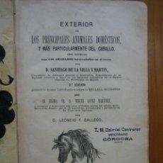 Libros antiguos: ANTIGUO LIBRO SOBRE CEBALLOS. EXTERIOR DEL CABALLO 1885. Lote 117447535