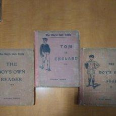 Libros antiguos: LOTE DE 3 ANTIGUOS LIBROS INGLESES DE 1929. Lote 117450255