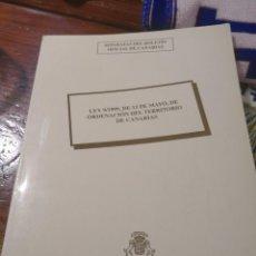 Libros antiguos: SEPARATAS DEL BOLETIN OFICIAL DE CANARIAS LEY 9/1999. Lote 117481791