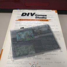Libros antiguos: LIBRO DIV GAMES STUDIO, MANUAL DE USUARIO PARA CREACIÓN DE VIDEOJUEGOS. EDITORIAL HAMMER TECHNOLOGI. Lote 117574743
