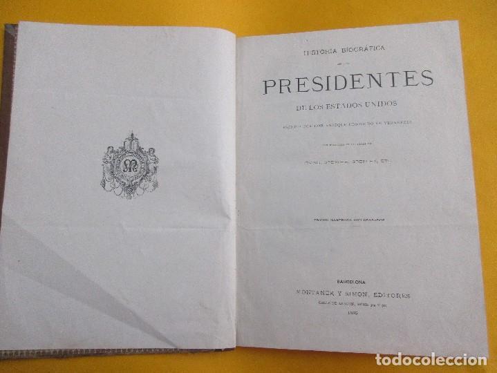 HISTORIA BIOGRÁFICA DE LOS PRESIDENTES DE LOS ESTADOS UNIDOS.E. L. DE VERNEUILL. 1885. 289 PÁGINAS. (Libros Antiguos, Raros y Curiosos - Historia - Otros)
