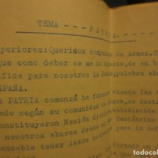 Libros antiguos: LA PATRIA LIBRO CONFERENCIA ORIGINAL E INEDITO OBRA MELILLA 1937 EN PLENA GUERRA CIVIL LEGION. Lote 117765919