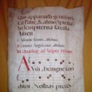 Libros antiguos: EXPECTACULAR CANTORAL DEL SIGLO XV EN PERGAMINO ILUMINADO - GRAN FORMATO.. Lote 117949931