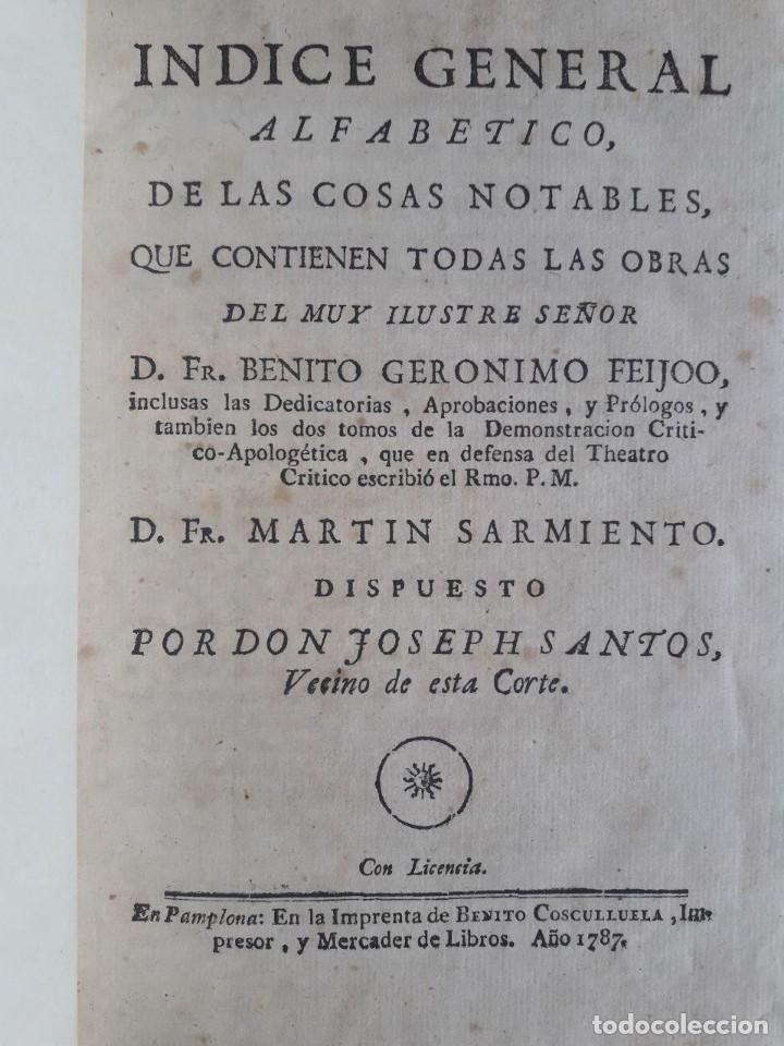 Libros antiguos: TEATRO CRITICO UNIVERSAL O DISCURSOS VARIOS EN TODO GÉNERO DE MATERIAS / FEYJOO / 16 VOLÚMENES 1784 - Foto 2 - 117977131