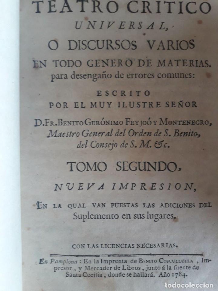 Libros antiguos: TEATRO CRITICO UNIVERSAL O DISCURSOS VARIOS EN TODO GÉNERO DE MATERIAS / FEYJOO / 16 VOLÚMENES 1784 - Foto 4 - 117977131