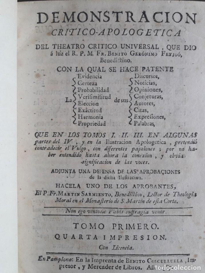 Libros antiguos: TEATRO CRITICO UNIVERSAL O DISCURSOS VARIOS EN TODO GÉNERO DE MATERIAS / FEYJOO / 16 VOLÚMENES 1784 - Foto 5 - 117977131
