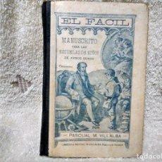 Livres anciens: EL FACIL LIBRITO DE APRENDIZAJE DE ESCRITURA AÑO1919. Lote 118215859