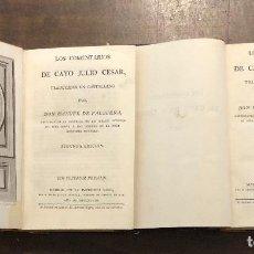 Libros antiguos: CESAR-COMENTARIOS-2 TOMOS-MDCCXCVIII(1798)(320€). Lote 118302983