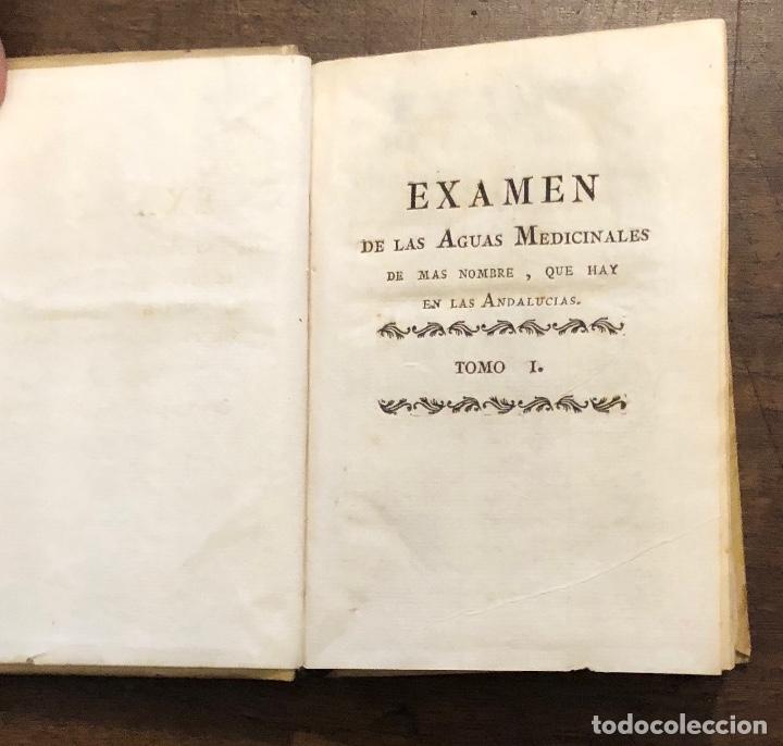EXAMEN DE LAS AGUAS MEDICINALES-TOMO I-1793(527€) (Libros Antiguos, Raros y Curiosos - Ciencias, Manuales y Oficios - Otros)