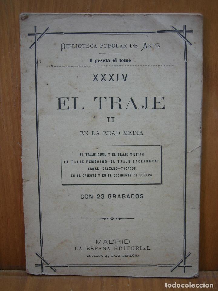 HISTORIA DEL TRAJE II EN LA EDAD MEDIA CON 23 GRABADOS (Libros Antiguos, Raros y Curiosos - Ciencias, Manuales y Oficios - Otros)