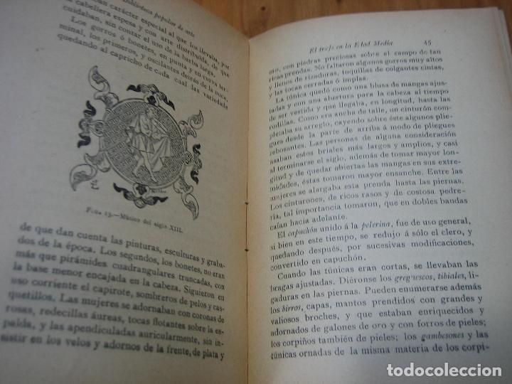 Libros antiguos: Historia del traje II en la Edad Media con 23 grabados - Foto 2 - 118370039