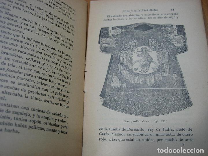 Libros antiguos: Historia del traje II en la Edad Media con 23 grabados - Foto 3 - 118370039