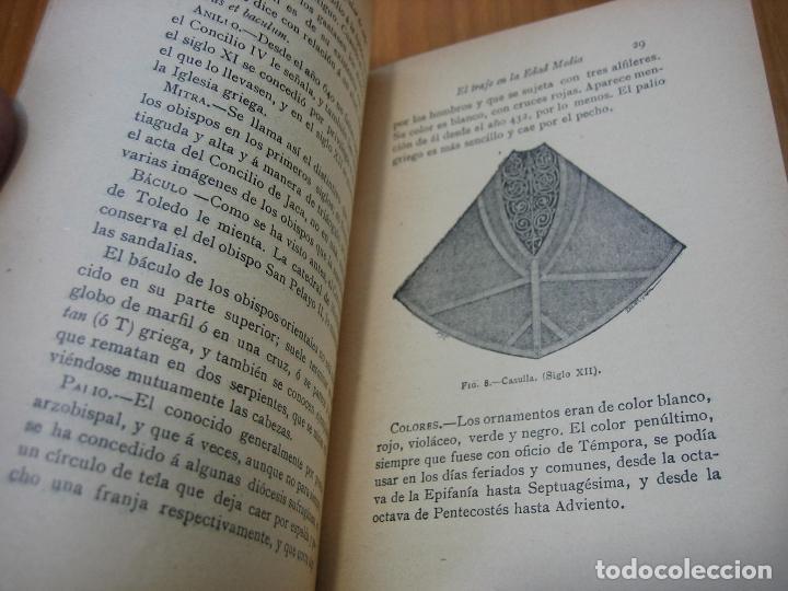 Libros antiguos: Historia del traje II en la Edad Media con 23 grabados - Foto 4 - 118370039