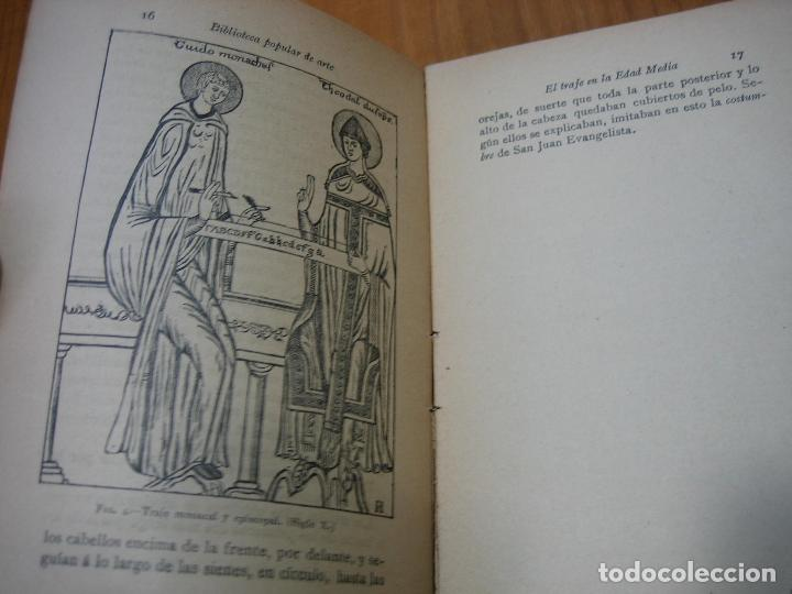 Libros antiguos: Historia del traje II en la Edad Media con 23 grabados - Foto 5 - 118370039