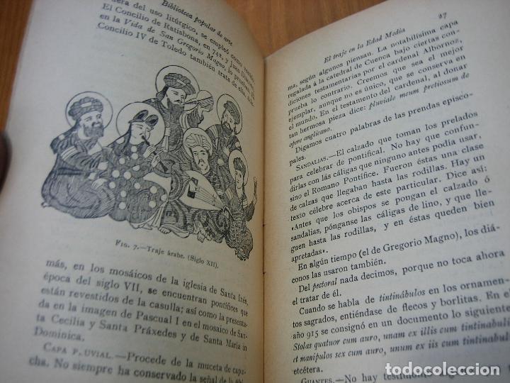 Libros antiguos: Historia del traje II en la Edad Media con 23 grabados - Foto 6 - 118370039