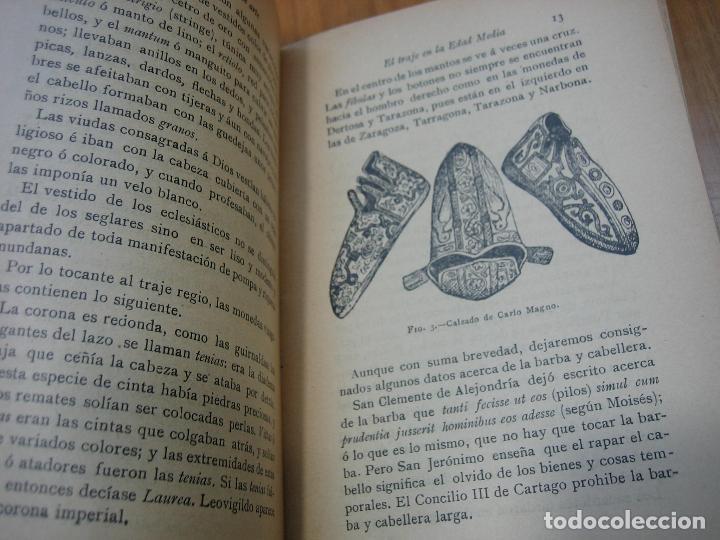 Libros antiguos: Historia del traje II en la Edad Media con 23 grabados - Foto 7 - 118370039