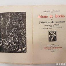 Libros antiguos: CAZA 1926, DIANE DE BREHO, (MARQUIS FOUDRAS), TIRADA 1.200. Lote 118443295