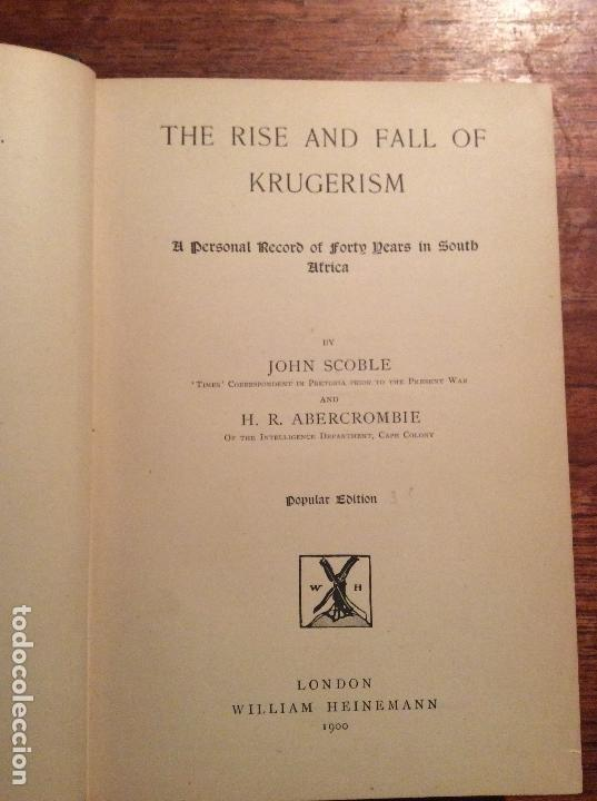 Libros antiguos: THE RISE AND FALL OF KRUGERISM - Foto 2 - 118487691