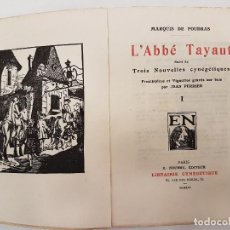 Libros antiguos: CAZA 1925, L´ABBE TAYAUT, (MARQUIS FOUDRAS), TIRADA 1.200, (II TOMOS). Lote 118489711