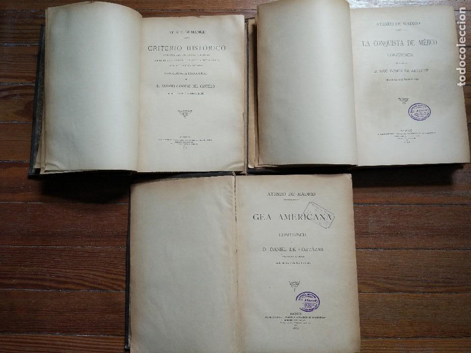 Libros antiguos: El Continente Americano. Conferencias dadas en el Ateneo Científico de Madrid. 3 Vol. 1894 - Foto 2 - 118471011