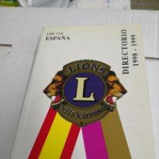 Libros antiguos: DIRECTORIO DM 116 ESPAÑA 1998-1999 - LIONS INTERNATIONAL. Lote 118548123