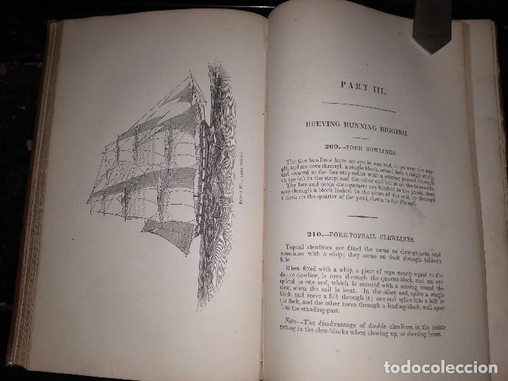 Libros antiguos: Brady, W. The kedge anchor or young sailors assistant 1874 Aparejo y Maniobra de Veleros - Foto 2 - 118552783