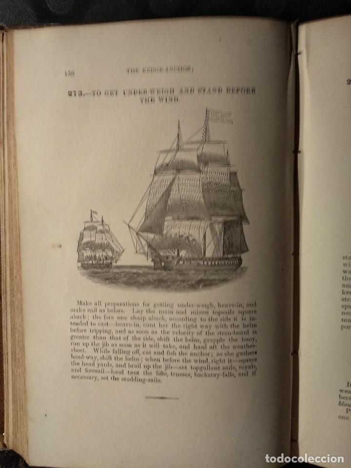 Libros antiguos: Brady, W. The kedge anchor or young sailors assistant 1874 Aparejo y Maniobra de Veleros - Foto 3 - 118552783