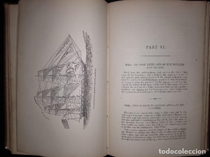Libros antiguos: Brady, W. The kedge anchor or young sailors assistant 1874 Aparejo y Maniobra de Veleros - Foto 4 - 118552783