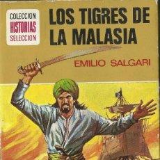 Libros antiguos: LOS TRIGRES DE LA MALASIA - EMILIO SALGARI - COLECCION HISTORIAS SELECCION. Lote 118581679