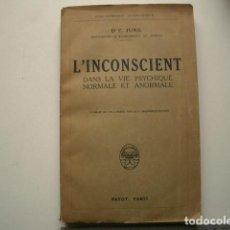 Libros antiguos: L'INCONSCIENT DANS LA VIE PSYCHIQUE NORMALE ET ANORMALE JUNG DR C PUBLISHED BY PAYOT . Lote 118616687