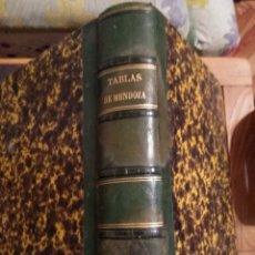 Libros antiguos: MENDOZA Y RÍOS 1863 COLECCIÓN COMPLETA DE TABLAS PARA LOS USOS DE LA NAVEGACIÓN Y ASTRONOMÍA NAÚTICA. Lote 118628687