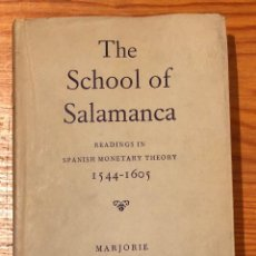 Libros antiguos: THE SCHOOL OF SALAMANCA(39€). Lote 118670939