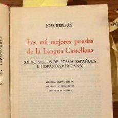 Libros antiguos: LAS MIL MEJORES POESÍAS DE LA LENGUA CASTELLANA(23€). Lote 118743515
