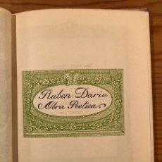 Libros antiguos: RUBEN DARIO-RUBÉN DARÍO. OBRA POÉTICA(13€). Lote 118744575