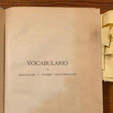 Libros antiguos: VOCABULARIO DE REFRANES-CORREAS(32€). Lote 118745283